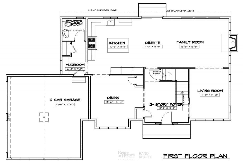 2935 ELEVATION 1 - MARKETING SET FIRST FLOOR PLAN