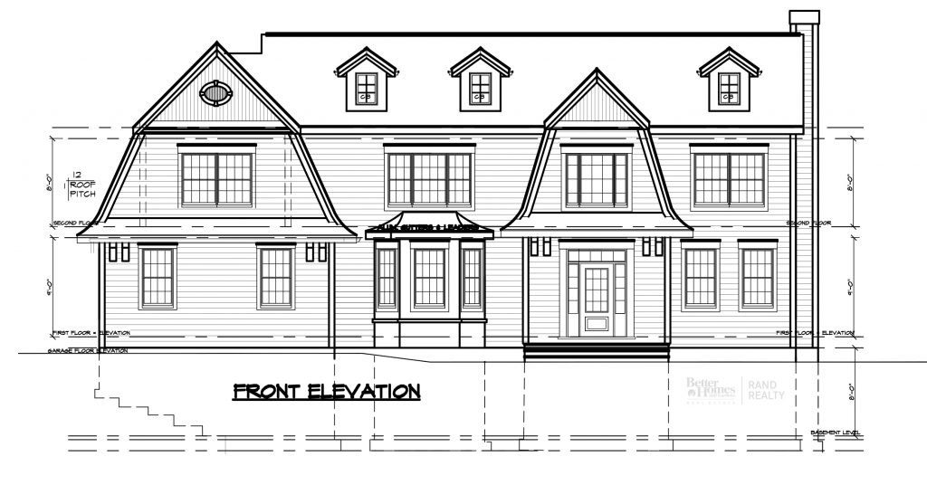 2935 ELEVATION #2 - MARKETING SET - Front and rear Elevations