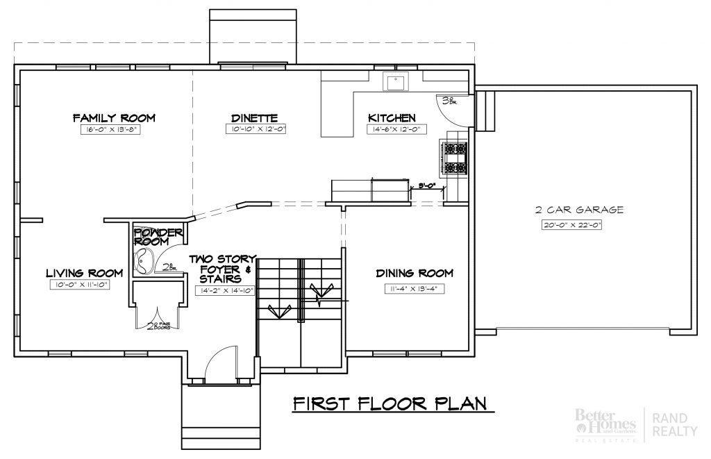 2585 SF - MARKETING SET - FIRST FLOOR PLAN