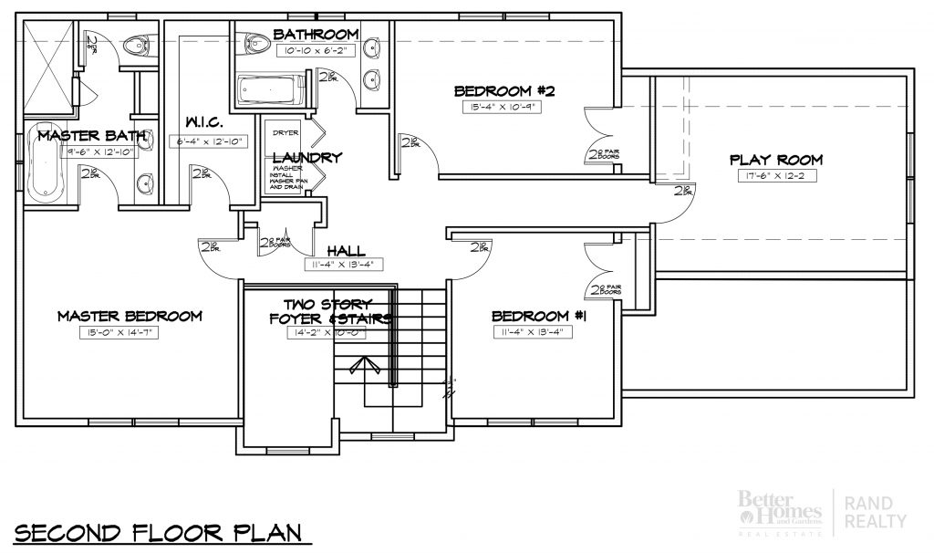 2585 SF - MARKETING SET - SECOND FLOOR PLAN