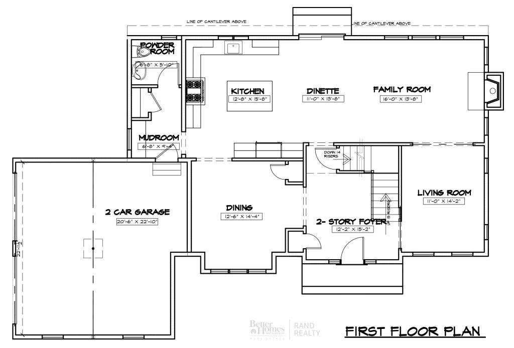 2935 ELEVATION 1 - MARKETING SET FIRST FLOOR PLAN