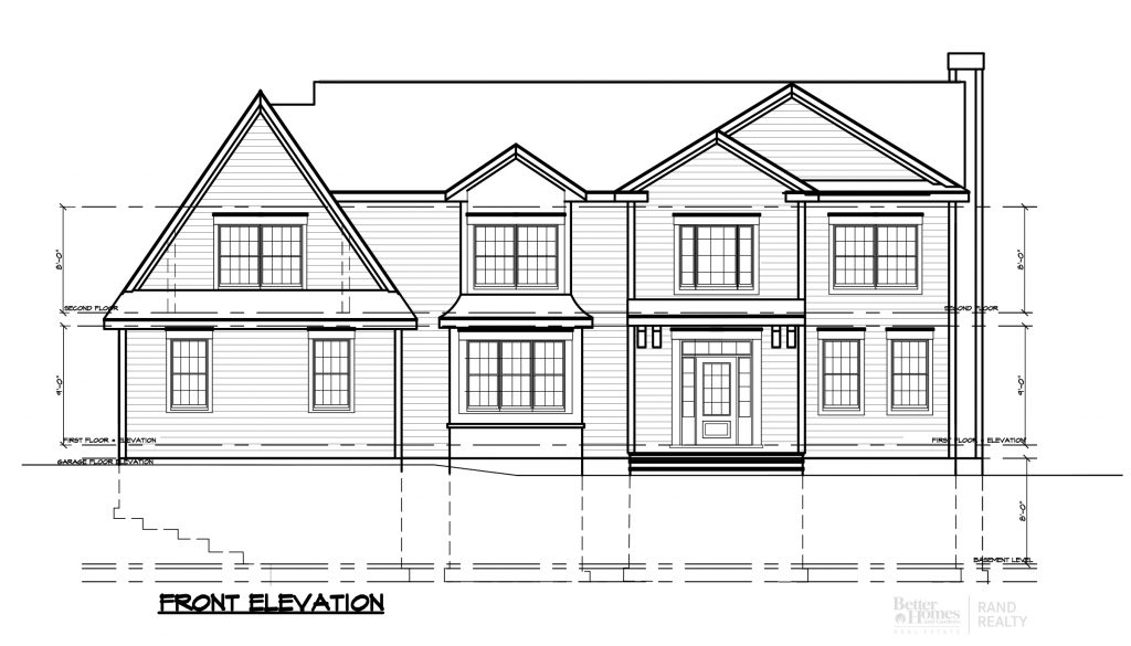 2935 ELEVATION 1 - MARKETING SET FRONT- REAR ELEVATIONS