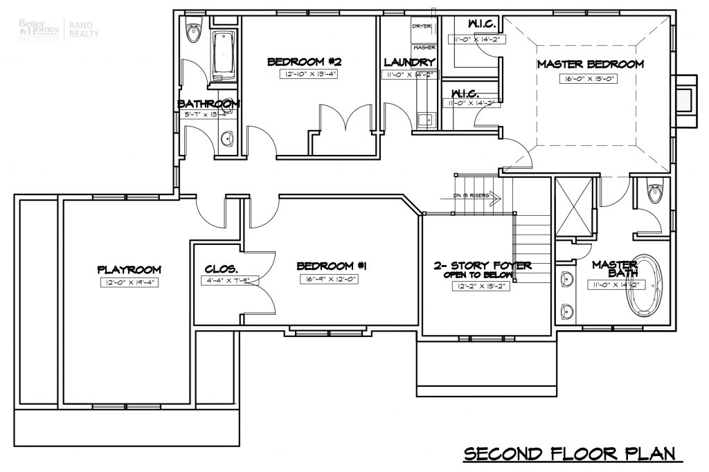 2935 ELEVATION 1 - MARKETING SET SECOND FLOOR PLAN